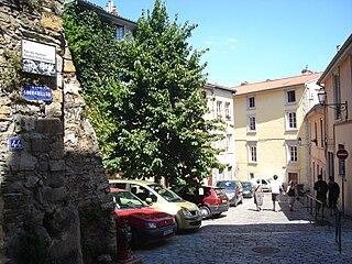 Montée du Gourguillon street in Lyon, France