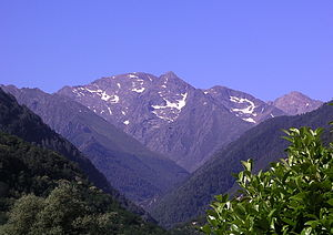 Montcalm Massif - Pic de Montcalm seen from the Vicdessos valley