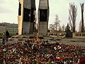 Monument to the Fallen Shipyard Workers of 1970 in Gdańsk after president's plane crash 2010 - 14.jpg