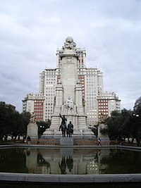 Monumento a Miguel de Cervantes.