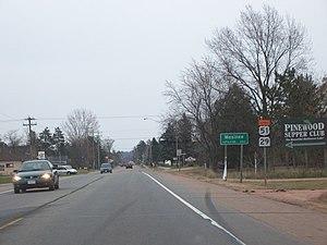 Mosinee, Wisconsin - Sign on Wisconsin Highway 153