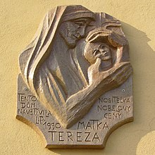 Outdoor bas-relief plaque