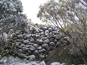 Mount Torbreck - The summit cairn on Mount Torbreck in early winter