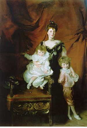 Peter Cazalet (racehorse trainer) - Mrs. Cazalet and Children Edward and Victor, John Singer Sargent, 1900-1901