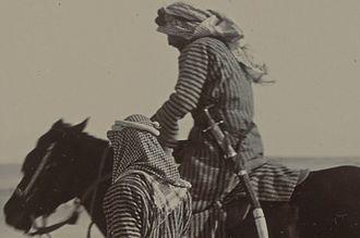 Mubarak Al-Sabah - Mubarak Al Sabah on horseback alongside an accomplice in 1903.