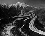 Muldrow Glacier, valley glacier with winding moraines, undated (GLACIERS 5166).jpg