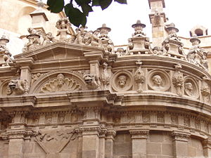 Murcia Cathedral - Facade detail