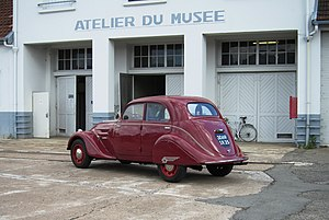 Musée de l'Aventure Peugeot - The museum has its own small workshop complex, directly on the north side of the museum site.