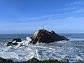 Mussel Rock viewed from the beach of mussel rock beach park.jpg