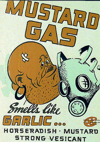 Sulfur mustard - US Army World War II gas identification poster, c. 1941–1945