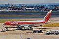 N421AV B767-2B1ER Avianca LHR 15AUG00 (6751950145).jpg