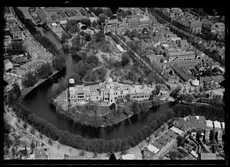 Leiden Observatory - Image: NIMH 2011 0300 Aerial photograph of Leiden, The Netherlands 1920 1940