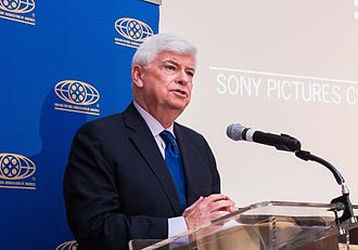 Motion Picture Association of America - MPAA Chairman Chris Dodd at a screening of the film No