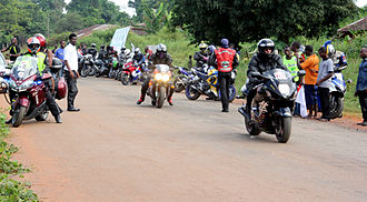 Superbike racing - Some of the contestants at the Nigeria Superbike Road Race