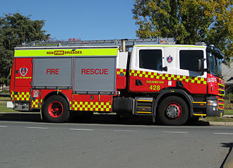 Fire and Rescue NSW - Class 3 Pumper in new NSWFB livery, Queanbeyan Australia