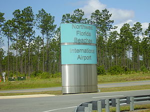 Northwest Florida Beaches International Airport - Entrance sign