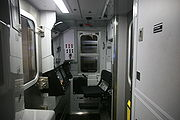 Driver's cab of an R160 N train