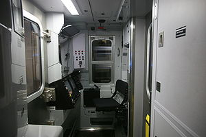 New Technology Train - Image: NYC N train cockpit