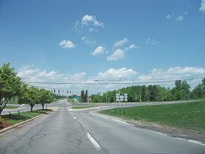 New York State Route 131 - NY 37/NY 131 interchange in Massena