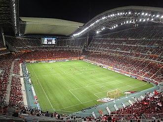 Toyota, Aichi - Image: Nagoya Grampus game in Toyota Stadium 100814