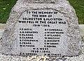 Names from the Great War Memorial, Selmeston - geograph.org.uk - 1007975.jpg