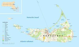 Letters from an American Farmer - Image: Nantucket map fi