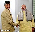 Narendra Modi congratulates N. Chandrababu Naidu Good for his party's performance in local elections.jpg