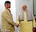 Narendra Modi congratulates N. Chandrababu Naidu Good for his party's performance in local elections.jpg