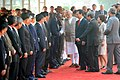 Narendra Modi meeting the Vietnamese Delegation, at the Ceremonial Reception, at Rashtrapati Bhavan, in New Delhi on October 28, 2014. The Prime Minister of Socialist Republic of Vietnam, Mr. Nguyen Tan Dung is also seen.jpg