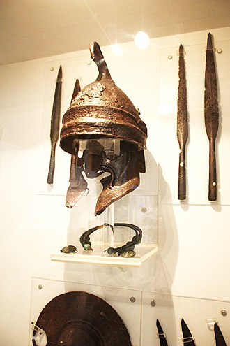 Phrygian helmet - Phrygian helmet with large cheekpieces