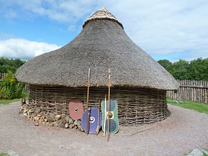Navan Fort - Reconstructed roundhouse at the Navan Fort centre