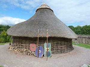 Navan Fort - Reconstructed roundhouse at the Navan Fort centre