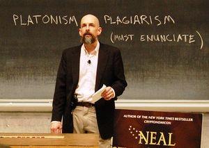 English: U.S. novelist Neal Stephenson discuss...