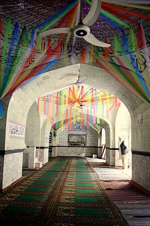 Neevin Mosque - A view of the mosque's interior