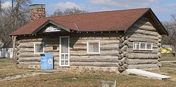 Nehawka's 1934 log cabin library is listed in the National Register of Historic Places.[1]