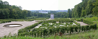 Schleswig, Schleswig-Holstein - Neuwerk garden with the Globushaus and Gottorf Castle in the background