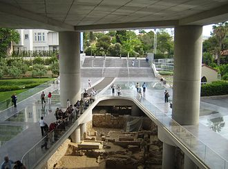 Acropolis Museum - Archaeological site below the main entrance to the museum.