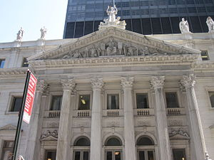 Madison Avenue - A New York State appeals court building on Madison Avenue adjacent to Madison Square