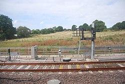 New sidings north of Horsforth Station (geograph 4199531).jpg