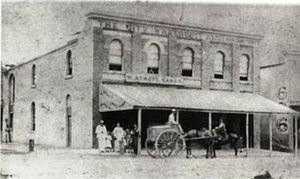 William Arnott (biscuit manufacturer) - The William Arnott's Steam Biscuit Factory in Newcastle, New South Wales (photographed circa 1868)