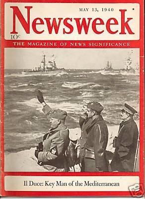 Newsweek May 13 1940 Mussolini