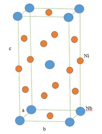 """Superalloy - Crystal structure for γ"""" (Ni3Nb) (Body Centered Tetragonal)"""