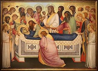 Death of the Virgin - Image: Niccolò di pietro gerini, Dormitio e Assunzione della Vergine, 1370 75 circa (parma, gn) 03