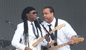 Nile Rodgers - Rodgers performing with Chic at the Flow Festival in Helsinki, 2015