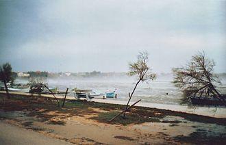 Bora (wind) - Hurricane-strength bora in Nin, Croatia