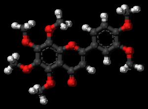 Nobiletin - Image: Nobiletin molecule ball