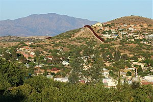 View of Nogales, Arizona/Sonora from Arizona. ...