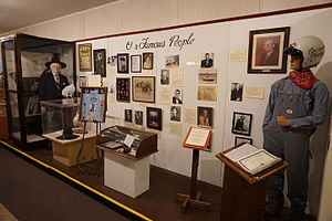 "Pittsburg, Texas - ""Our Famous People"" display at Pittsburg's Northeast Texas Rural Heritage Center and Museum"