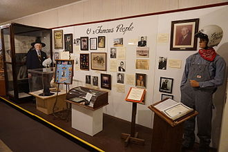 """Pittsburg, Texas - """"Our Famous People"""" display at Pittsburg's Northeast Texas Rural Heritage Center and Museum"""