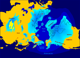 Series of alternating glacial and interglacial periods